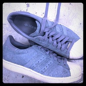 adidas Shoes - Blue Pebble/Snake Print Adidas Superstar Sneakers